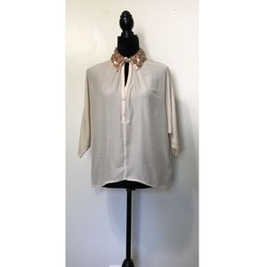 NWT Badgley Mischka Dolman Sleeve Accent Blouse 6